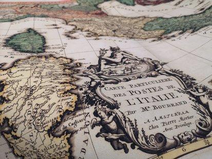 Carte particuliere des postes de l'Italie par Mr. Boudrand id_334