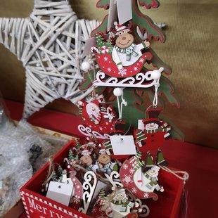 Addobbi albero di Natale Slitte in legno id_609