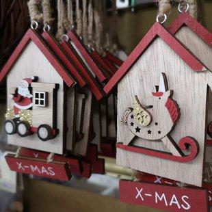 Addobbi albero di Natale in legno unicorno e babbo natale  id_624