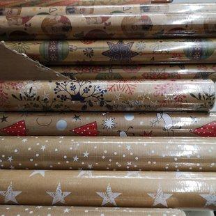 Carta da regalo natalizia in rotoli id_604
